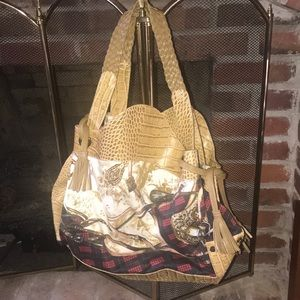 Just Cavalli bag pattern and leather